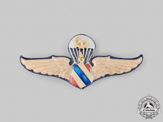Thailand, Kingdom. A Master Parachutist Badge