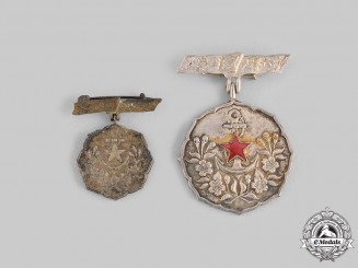 Japan, Empire. Two Patriotic Women's Association Badges