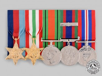 Canada. A Second War Veteran's Group of Five