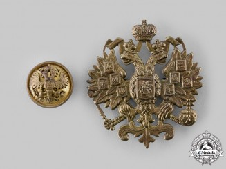 Russia, Imperial. A Pair of Uniform Insignia