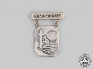 "United States. A Korean War ""In Memoriam"" Badge 1952"