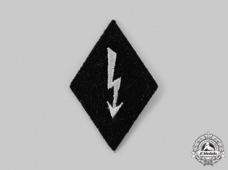 Germany, SS. An SS Signals Personnel Sleeve Diamond