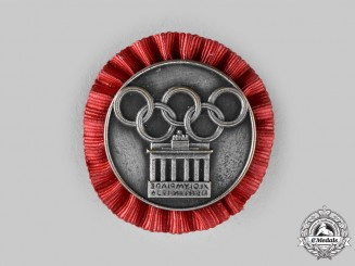 Germany, Olympic Games Memorabilia. A 1936 Berlin Olympics Participation Badge for the Encampment of the German Fachämpter