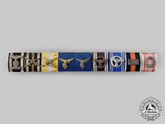 Germany, Luftwaffe. An Extensive Luftwaffe & NSDAP Long Service Ribbon Bar