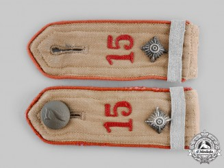 Germany, HJ. A Set of Oberkameradschaftsführer Bann 15 Shoulder Straps