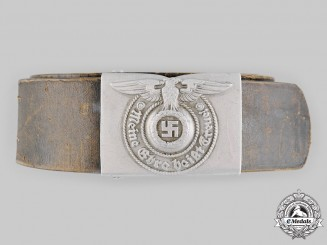 Germany, SS. A Waffen-SS EM/NCO's Belt and Buckle, by F.W. Assmann & Söhne