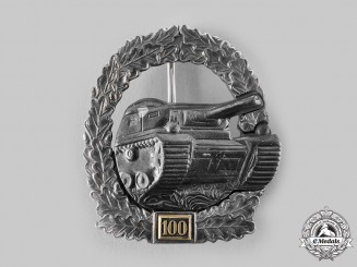 Germany, Federal Republic. A Panzer Assault Badge, Special Grade for 100 Engagements, 1957 Version