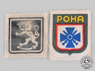 Germany, SS. A Pair of Foreign Volunteer Arm Shields