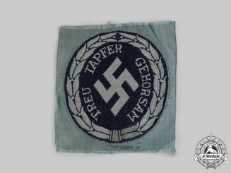 Germany, Ordnungspolizei. A Schutzmannschaft (Eastern Auxiliary Police) EM/NCO's Sleeve Insignia