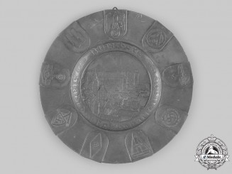 Germany, Third Reich. A Nuremberg Rally Commemorative Pewter Plate