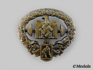 Germany, NSRL. A Heavy Athletics Badge, Bronze Grade