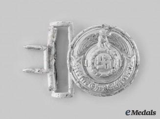 Germany, SS. An Officer's Belt Buckle, by Overhoff & Cie