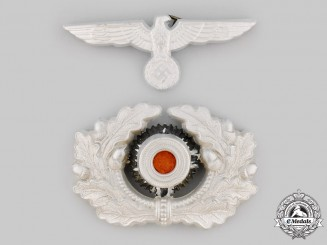 Germany, Heer. A Visor Cap Eagle and Cockade, Second Pattern