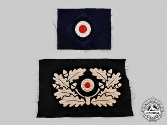 Germany, Wehrmacht. A Pair of Cap Insignia