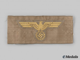Germany, Kriegsmarine. An EM/NCO Tropical Uniform Breast Eagle