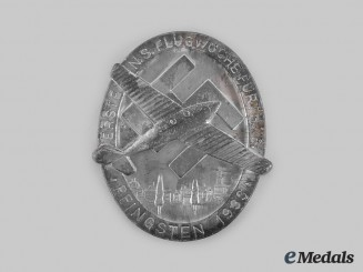 Germany, Third Reich. A 1933 Fürth Inaugural National Socialist Flight Week Table Medal