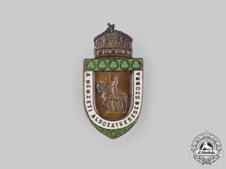 Hungary, Kingdom. A Statue of National Sacrifice War Donation Badge, c.1918