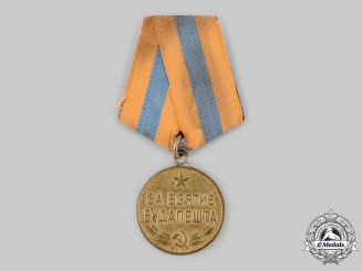 Russia, Soviet Union. A Medal for the Capture of Budapest 1945