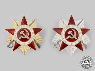 Russia, Soviet Union. Two Orders of the Patriotic War, 1985 Issue
