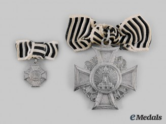 Prussia, Kingdom. A Cross of Honour of the Prussian Landes-Kriegerverband & Miniature