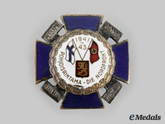 Finland, Republic. A German-Finnish Northern Front Badge, Type I