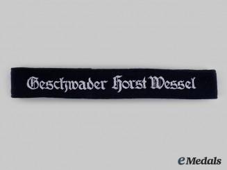 """Germany, Luftwaffe. A Zestörergeschwader 26 """"Horst Wessel"""" EM/NCO's Cuff Title"""