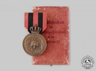 Württemberg, Kingdom. A Fire Brigade 25-Year Long Service Medal, with Case