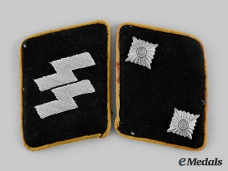 Germany, SS. A Set of Waffen-SS Feldgendarmerie Oberscharführer Collar Tabs