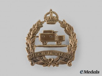 Canada, CEF. A 1st Armoured Motor Battery Cap Badge