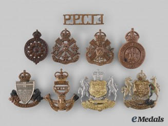 Canada. A Lot of Nine First and Second War Alberta Based Regimental Badges