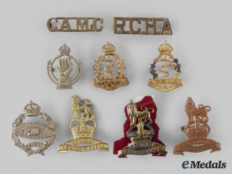Canada. A Lot of Nine First War, Second War and Post War Badges