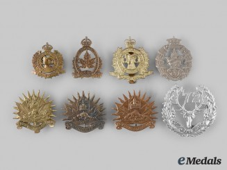 Canada. A Lot of Eight British Columbia Based Regimental Badges