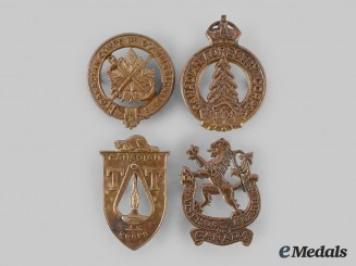 Canada, Commonwealth. A Lot of Four Second War Badges