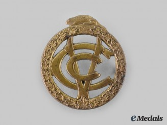 Canada, CEF. A Canadian Army Veterinary Corps Cap Badge, Type II with Wreath of Maple Leaves