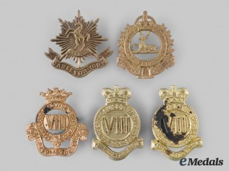 Canada, Commonwealth. A Lot of Five New Brunswick Based Regimental Badges