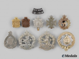 Canada. A Lot of Ten Ontario Based Regimental Badges