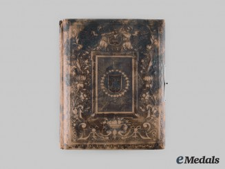 Prussia, Imperial. A Leatherbound Photo Album of Studio Portraits of Soldiers and Their Families