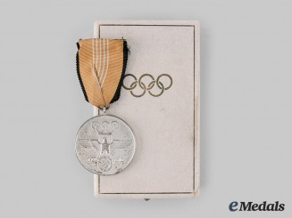 Germany, Third Reich. A 1936 German Olympic Commemorative Medal, with Case