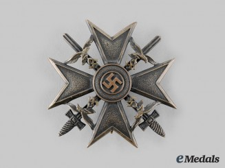 Germany, Wehrmacht. A Spanish Cross, Bronze Grade with Swords