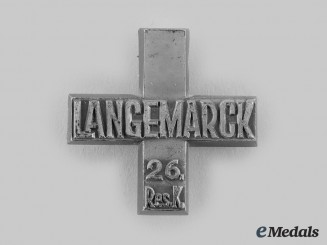 Germany, Weimar Republic. A 26th Reserve Cavalry Regiment Langemarck Memorial Cross