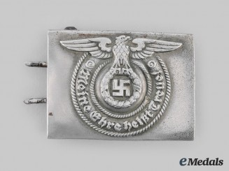 Germany, SS. An Early Allgemeine-SS EM/NCO's Belt Buckle, by Overhoff & Cie