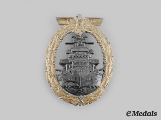 Germany, Kriegsmarine. A High Seas Fleet Badge, Type I by Richard Simm & Söhne