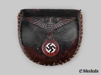 Germany, Third Reich. A NSDAP Membership Badge Leather Pouch