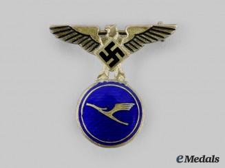 Germany, Third Reich. A Rare Lufthansa 15 Year Faithful Service Badge