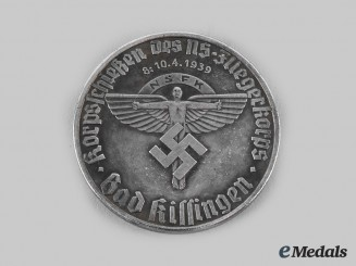 Germany, NSFK. A 1939 NSFK Bad Kissingen Shooting Competition Medal