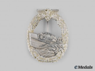 Germany, Kriegsmarine. A Very Scarce E-Boat Badge, Type I, by Steinhauer & Lück