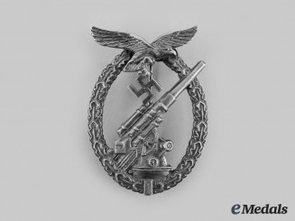 Germany, Luftwaffe. A Flak Badge, by Gustav Brehmer