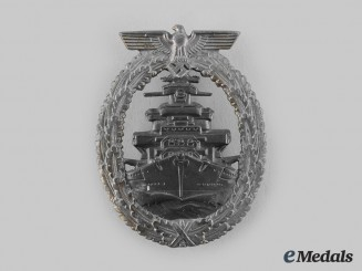 Germany, Kriegsmarine. A High Seas Fleet Badge, by Friedrich Orth