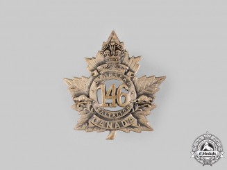Canada, CEF. A 146th Infantry Battalion Cap Badge, c.1915