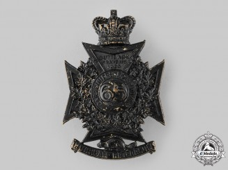 Canada, Dominion. A 65th Battalion, Mount Royal Rifles Helmet Plate, c.1890